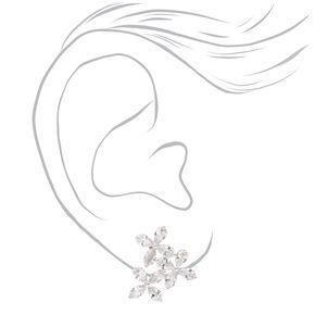 Cubic Zirconia Flower Trio Stud Earrings,