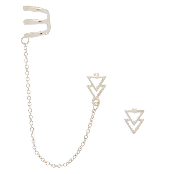 Claire's - triangle ear connector earrings - 1