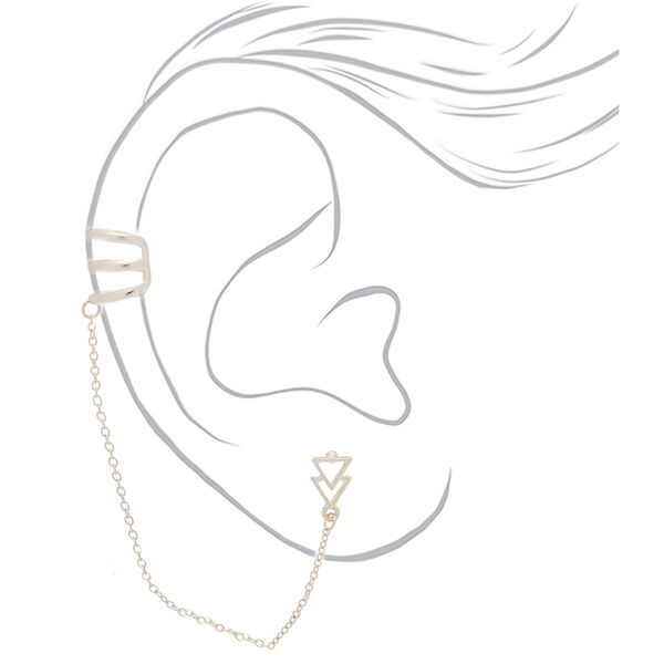 Claire's - triangle ear connector earrings - 2