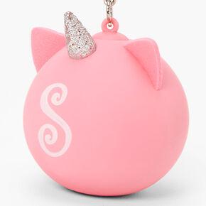 Initial Unicorn Stress Ball Keyring - Pink, S,