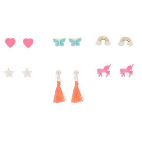 Magic Motif Stud Earrings - 6 Pack,