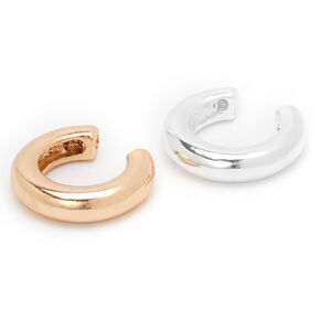 Mixed Metal Tube Ear Cuffs - 2 Pack,