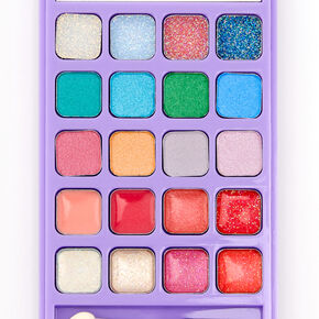 Rainbow Tie Dye Cell Phone Bling Makeup Set - Purple,