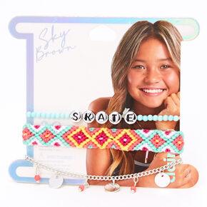 Sky Brown™ Skate Braided bracelets – Mint, 3 pack,