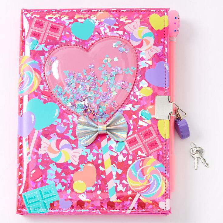 Shaker Sweets Lollipop Lock Diary - Pink,
