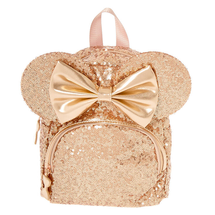 Disney s® Minnie Mouse Sequin Midi Backpack - Rose Gold  6dd2be76b3137