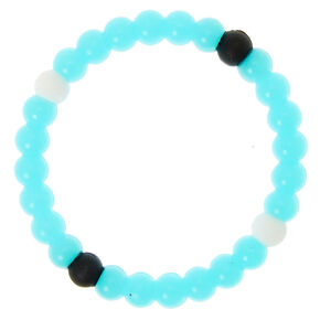 Glow In The Dark Fortune Stretch Bracelet - Blue,