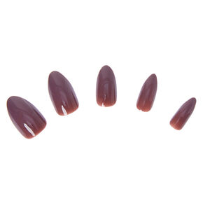 Glossy Stiletto Faux Nail Set - Mauve, 24 Pack,