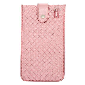 65022d49475d Crossbody Quilted Phone Pouch - Pink