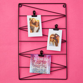 Zig-Zag Metal Clip Frame - Black,