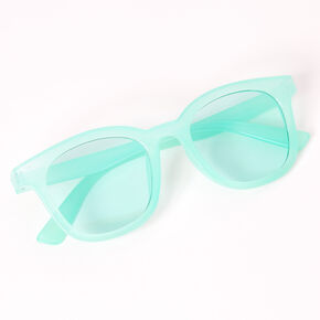 Retro Transparent Sunglasses - Mint,