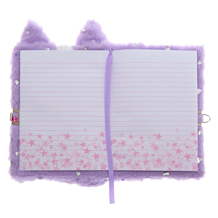 Carly the Cat Soft Lock Diary - Purple,