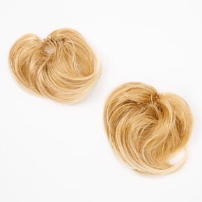 Straight Faux Hair Bobbles - Blonde, 2 Pack,