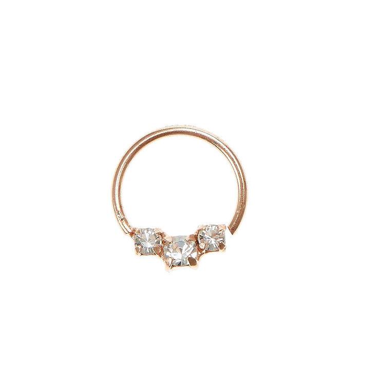 Rhinestone Rose Gold Cartilage Hoop Ring,