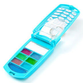 I Donut Care Flip Phone Bling Lip Gloss Set - Turquoise,