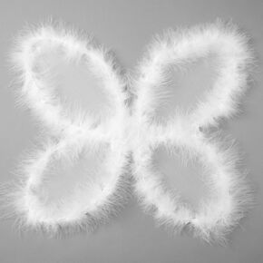 Faux Fur Nativity Wings - White,