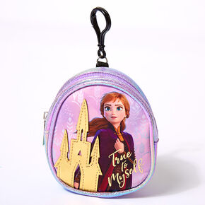 ©Disney Frozen 2 Anna Mini Backpack Keyring Clip - Purple,