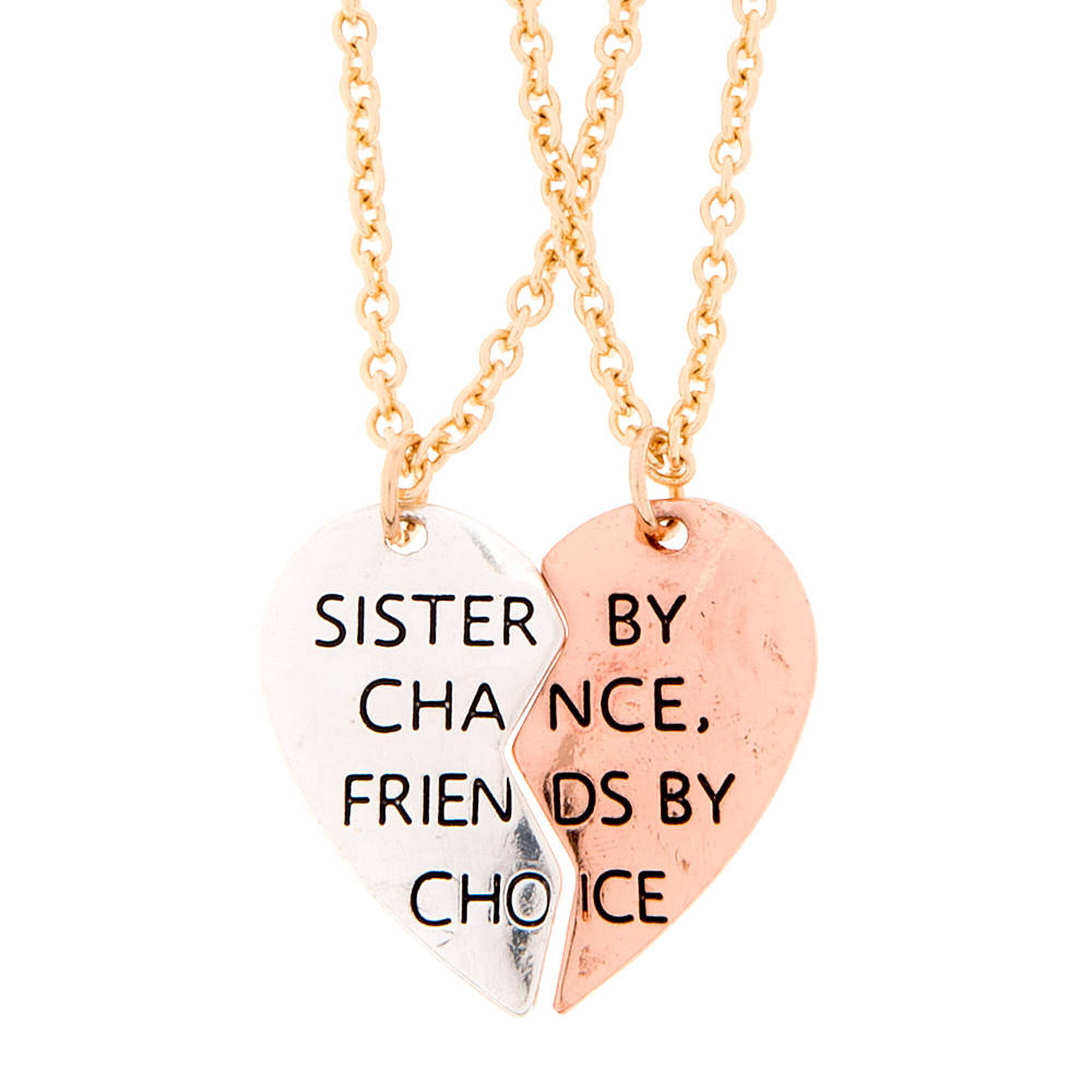 Mixed metal sister by chance friends by choice pendant necklaces mixed metal sister by chance friends by choice pendant necklaces mozeypictures Gallery