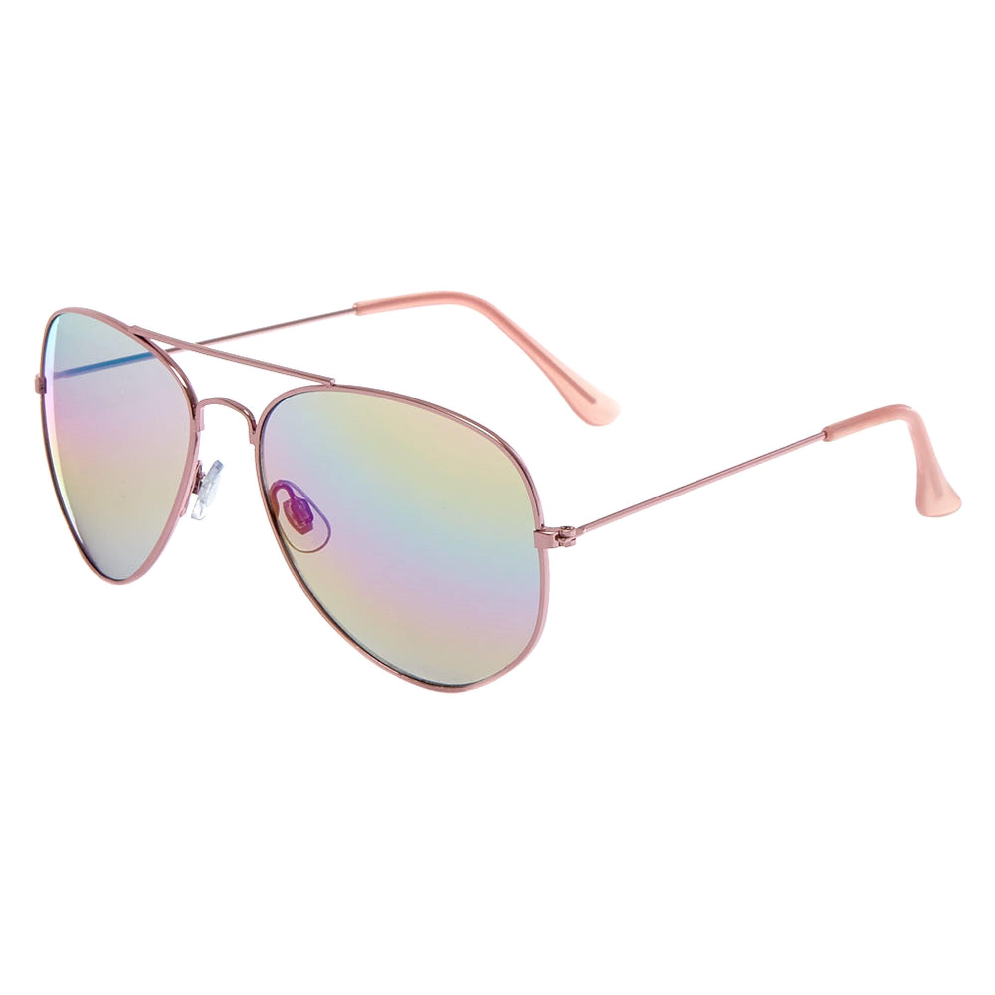 fe01fd8abca66 Pink Mirrored Aviator Sunglasses