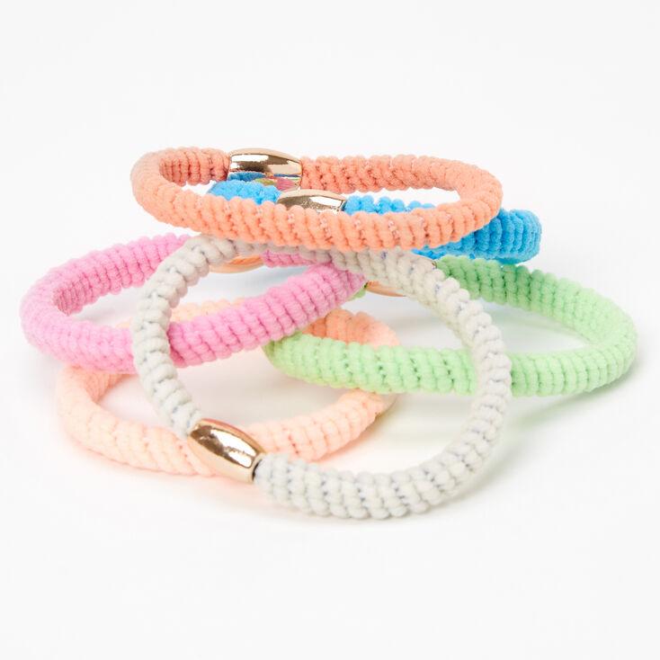 Pastel Beaded Twist Hair Ties - 6 Pack,