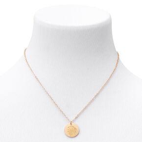 Gold Daisy Pendant Necklace,