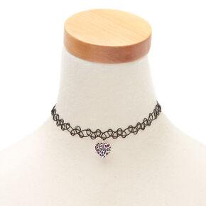 Rainbow Leopard Tattoo Choker Necklace,