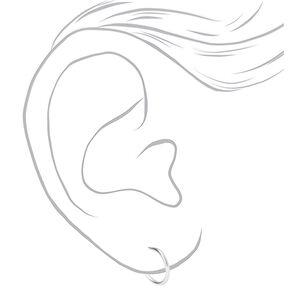 Sterling Silver 10MM Huggie Half Hoop Earrings,