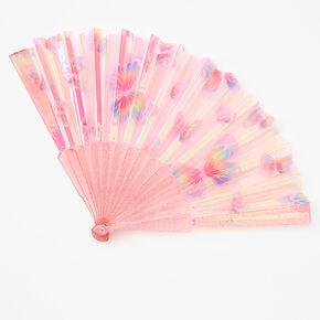 Butterfly Folding Fan - Pink,