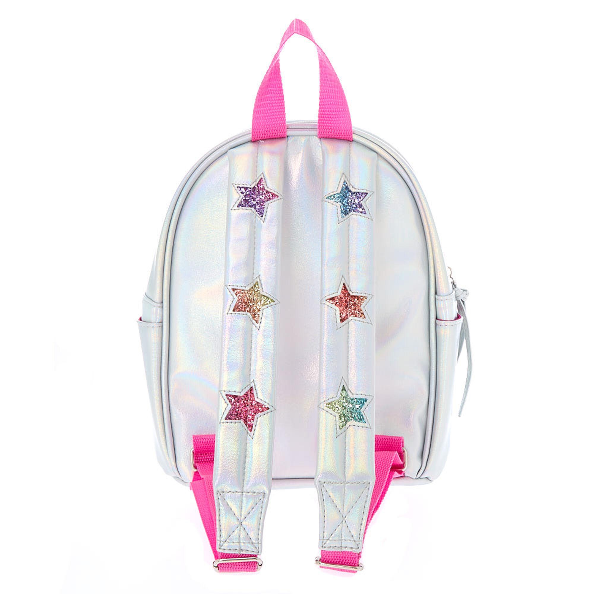 49c1bb134c5f ... Rainbow Glitter Star Mini Backpack - Silver