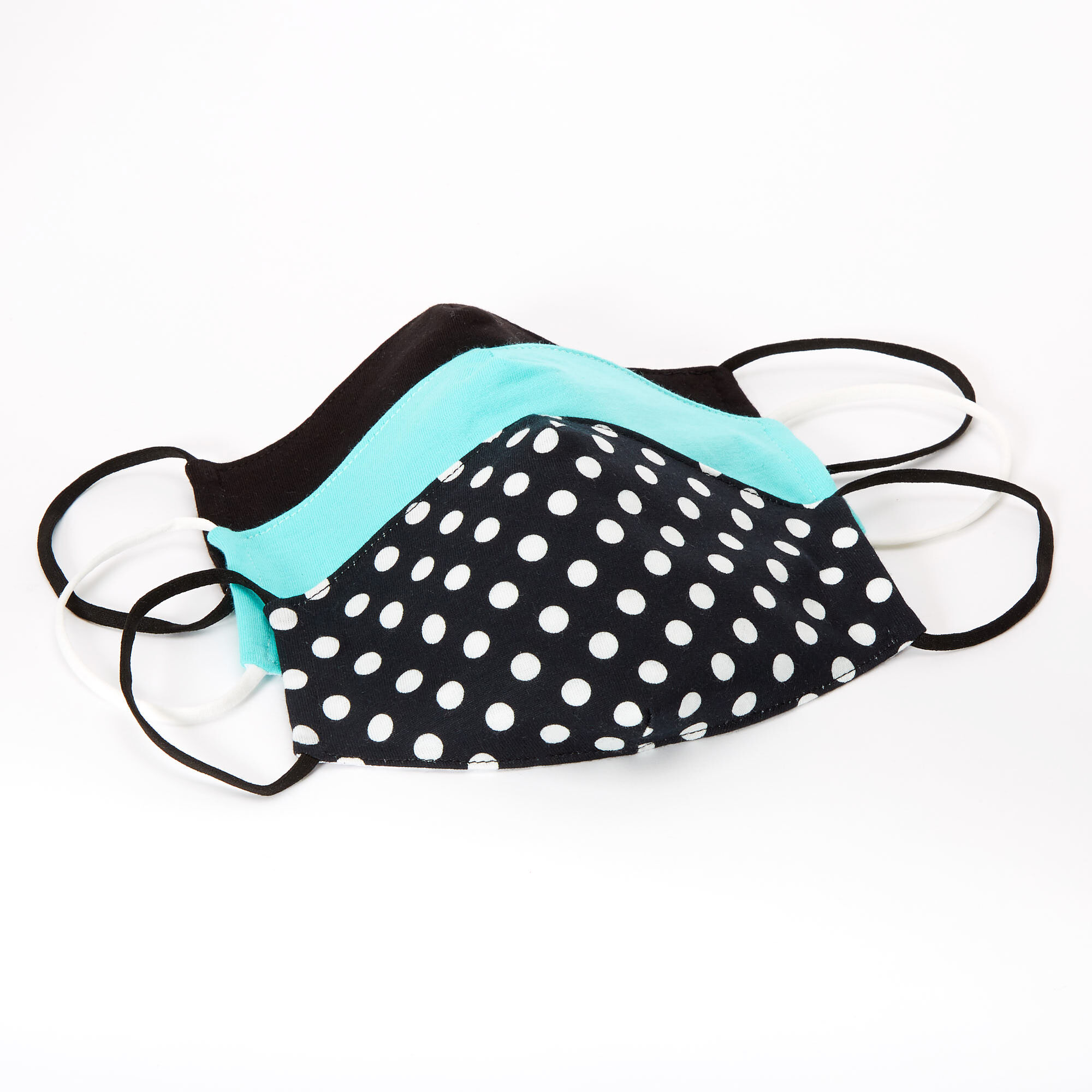 12pce Colour Polka Dot Mask 16cm for Birthday Parties