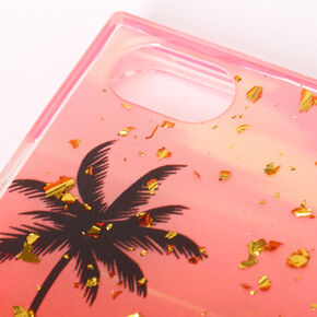 Palm Tree Sunset Square Phone Case - Fits iPhone 6/7/8/SE,