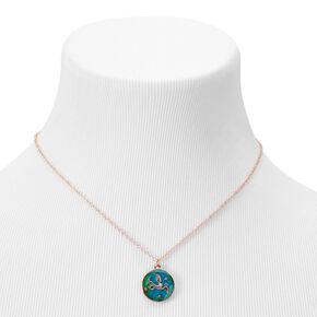 Gold Zodiac Mood Pendant Necklace - Capricorn,