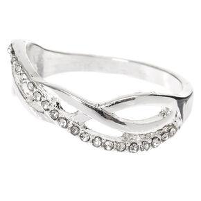 Silver Embellished Weave Ring,