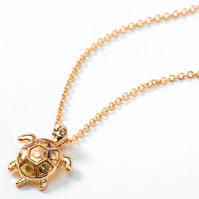 Gold Turtle Pendant Necklace,