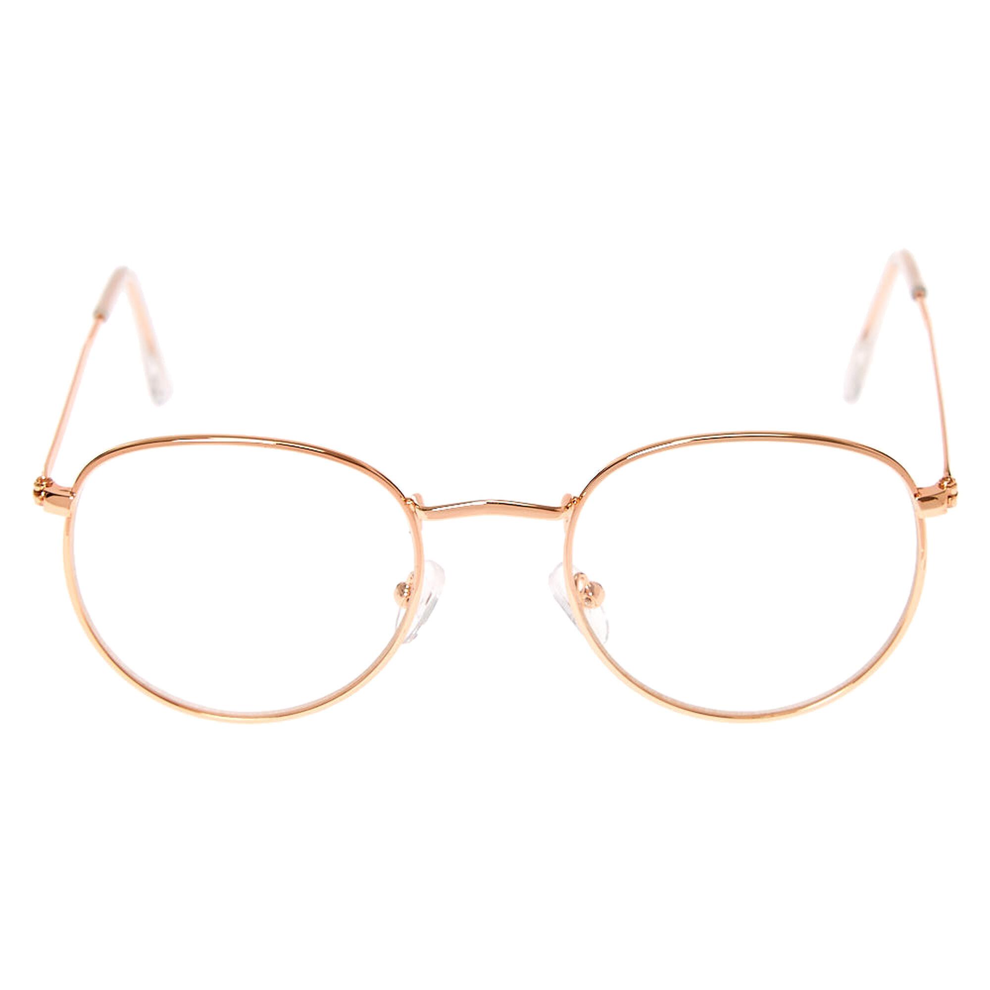 Rose Gold Retro Frames | Claire\'s US