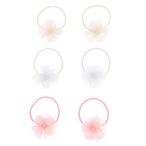 Claire's Club Chiffon Bow Hair Bobbles - 6 Pack,
