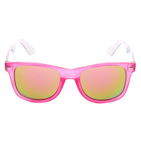 7966eae064 Holographic Retro Sunglasses - Pink
