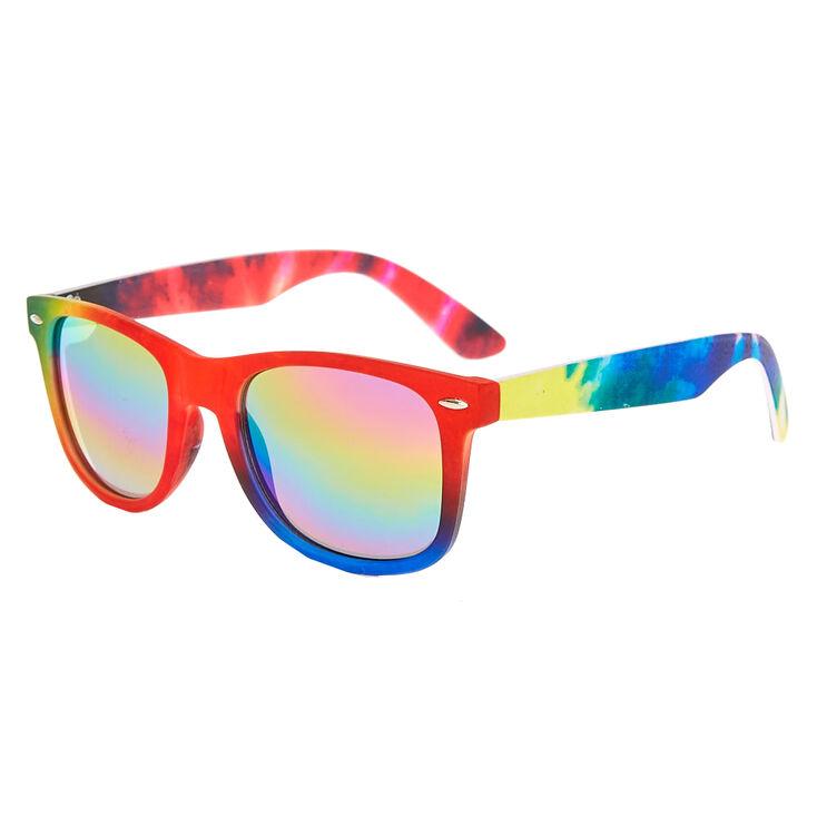1c8b0713606b1 Fausses lunettes de soleil tie-dye arc-en-ciel