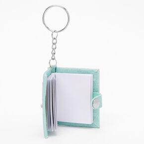 Initial Mini Journal Keychain - V,