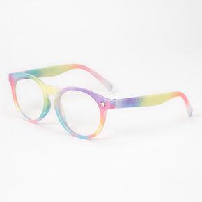 Claire's Club Star Clear Lens Frames - Rainbow,