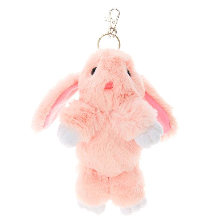 Pink Bunny Plush Keychain  7d3008f3805d