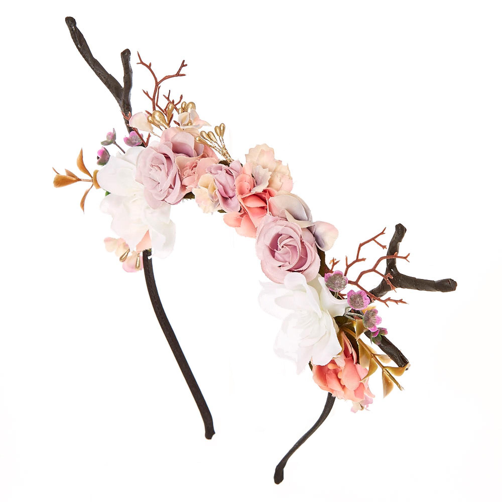Deer antler flower crown headband claires us deer antler flower crown headband izmirmasajfo