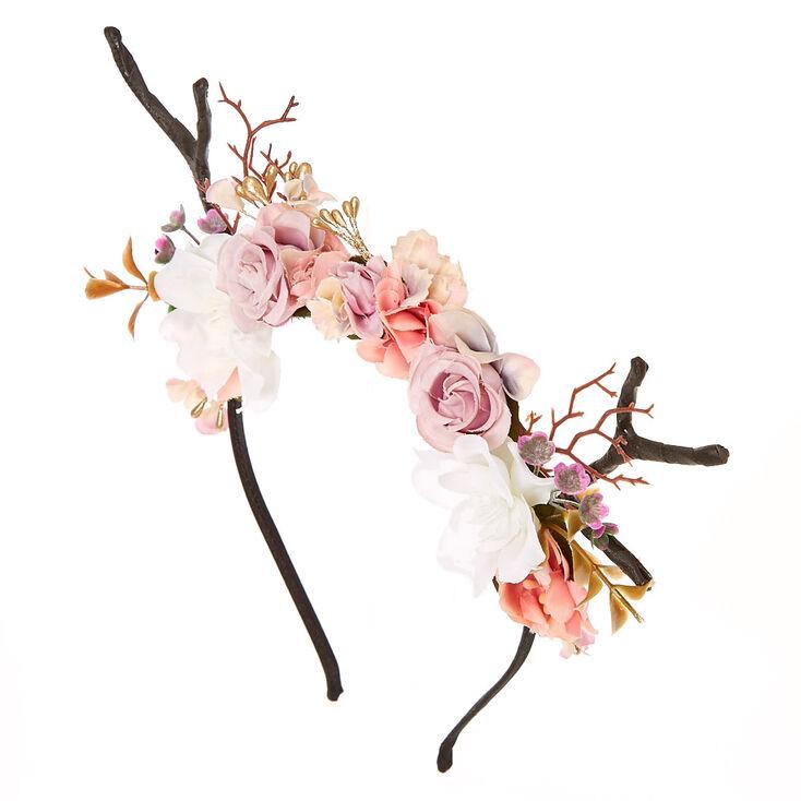 Deer Antler Flower Crown Headband 51ad21f0119