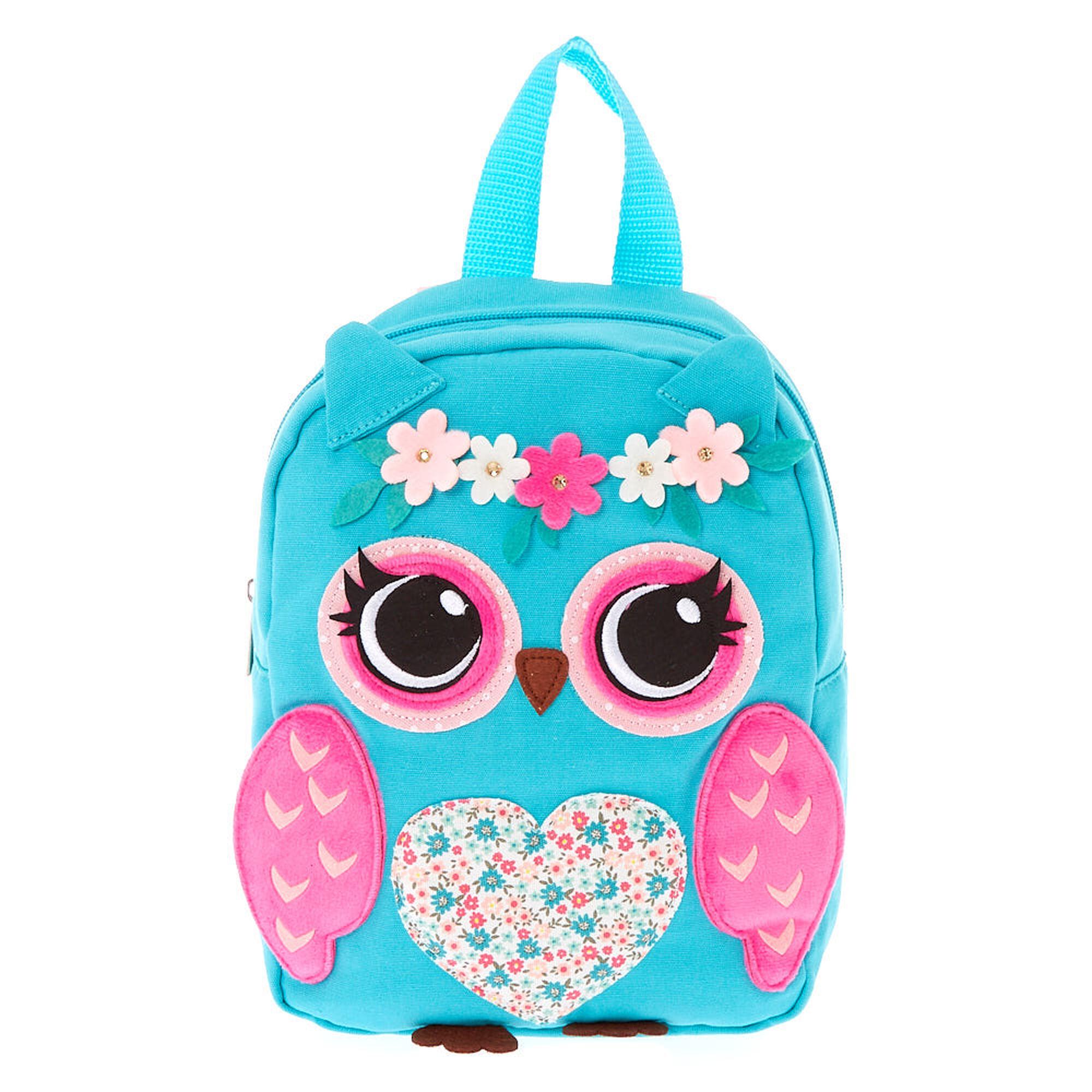 Claire/'s Club Patchwork Owl Drawstring Backpack Polka Dot Flowers Bag Bookbag