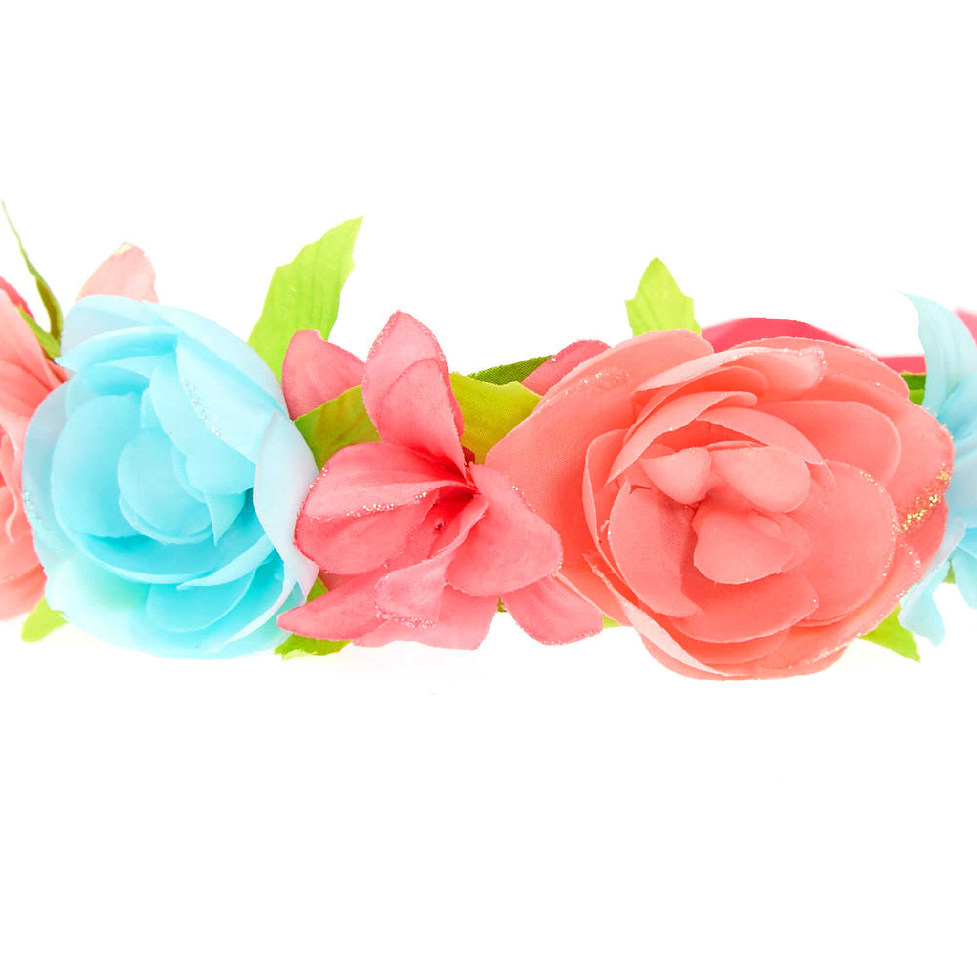 Kids pink blue flower crown headwrap claires kids pink amp blue flower crown headwrap izmirmasajfo