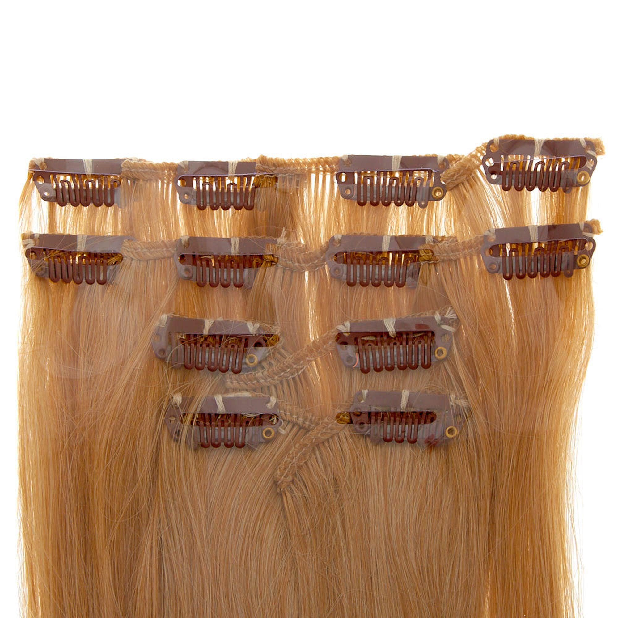 4 Piece Blonde Faux Hair Extensions Claires Us