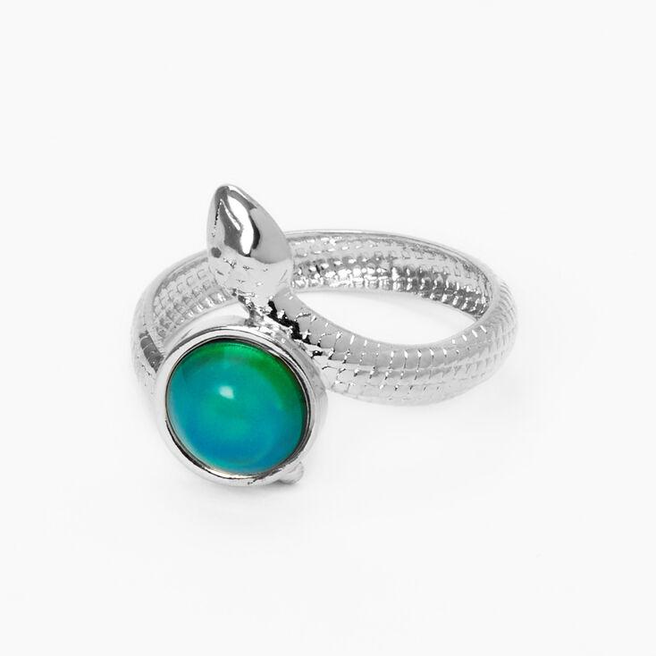 Snake Mood Ring - Silver,