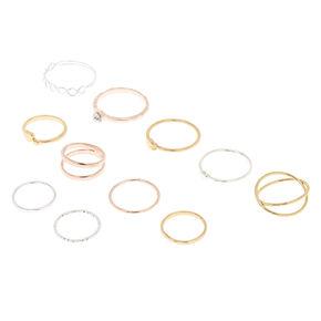 fcb0dd560e Mixed Metal Rings - 9 Pack + 10th Bonus Ring