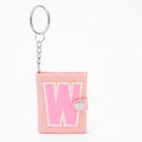 Initial Mini Journal Keychain - W,