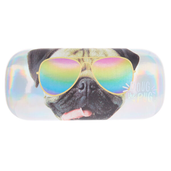 Claire's - doug the pug™ holographic sunglasses case - 1